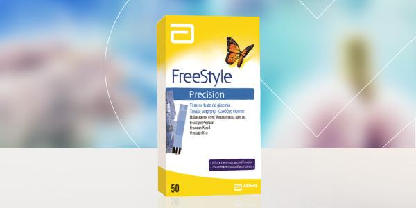 Tiras reativas para medição de glicémia no sangue – FreeStyle Precision CX.50